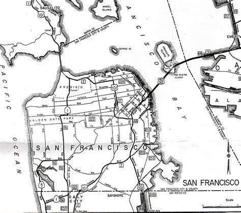 san francisco freeway map california highways www cahighways org san francisco