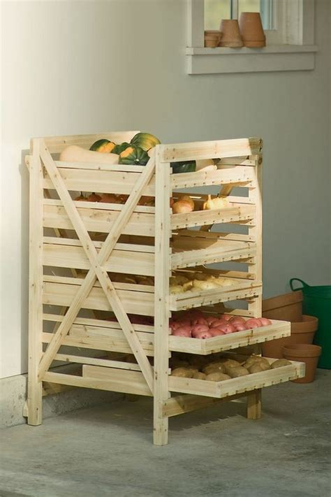 Fruit Storage Racks by Storage Ideas With Wood Pallets Pallet Ideas Recycled Upcycled Pallets Furniture Projects