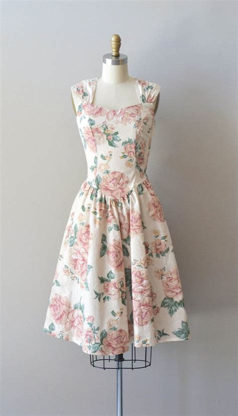 Dress Vintage vintage floral dress print cotton dress modern