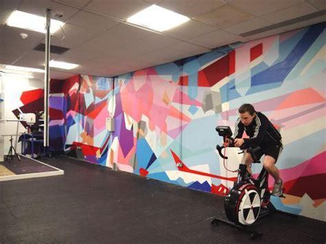 gymnastics wall murals olympians environment transformed by inspirational mural interior decor
