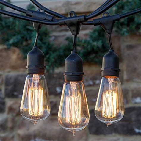 Vintage Outdoor String Lights Brightech Ambience Pro Vintage Edition Outdoor Commercial String Lights With Nostalgic Edison