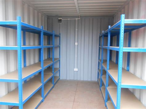 shipping containers 10ft with shelving and electrics sc71