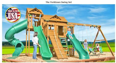 backyard playthings yorktown wooden swing set fitness lifestyles