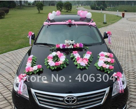 Decorate Wedding Car With Pink Flowers by 153 Best Wedding Car Decoration Images On