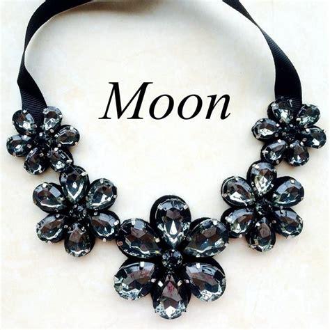 Handmade Chokers - aliexpress buy moon handmade grey flower