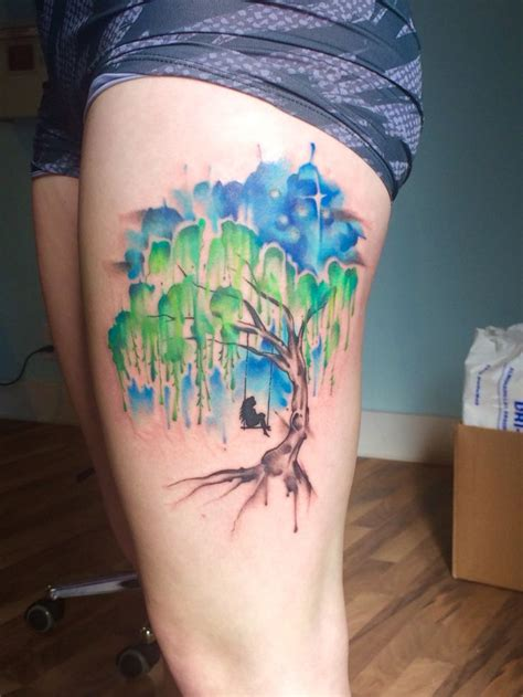 watercolor tree tattoo sleeve watercolor tree designs ideas and meaning
