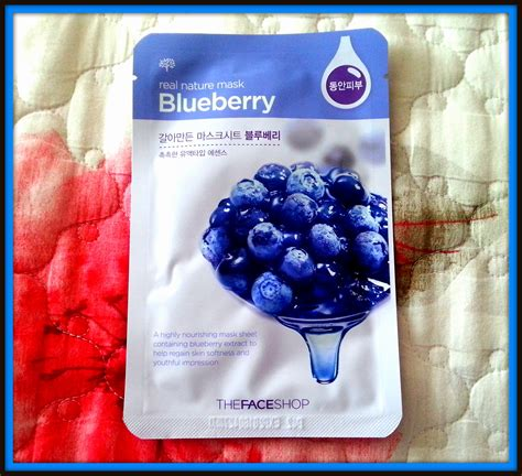 Rorec Korea Mask the shop blueberry real nature mask review