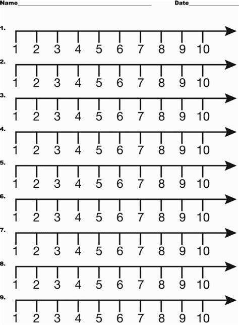 printable unmarked number line image gallery number line 1 10