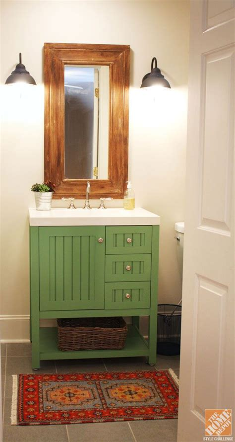 bathroom vanity with her a bathroom remodel painting the vanity for a custom look