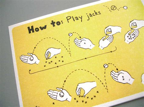 how to play with a how to play jacks postcard