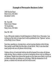 Business Letters For Students Sle Persuasive Business Letter 7 Exles In Word Pdf