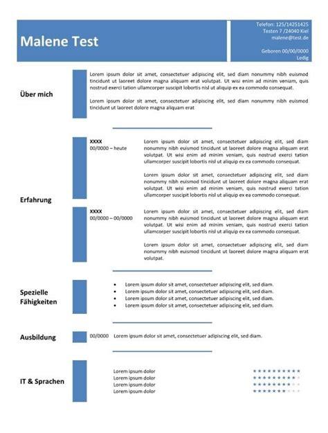 Beispiel Cv by Lebenslauf Beispiel Kompetenzen Cv Bewerbung