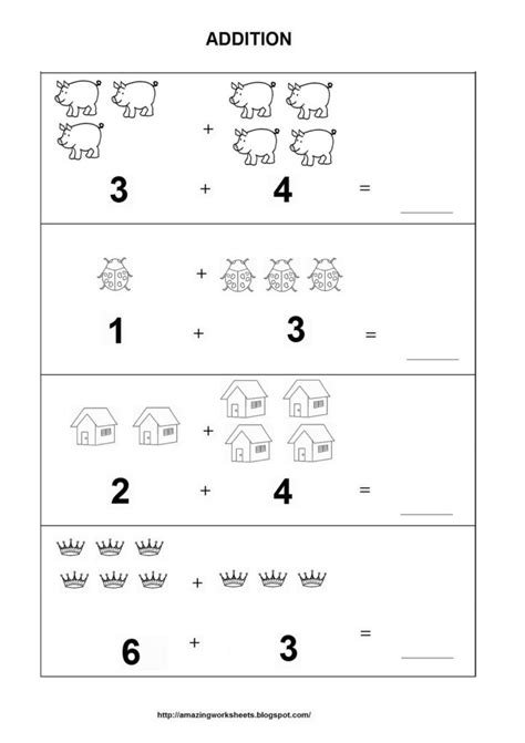 coloring pages addition worksheets for kindergarten