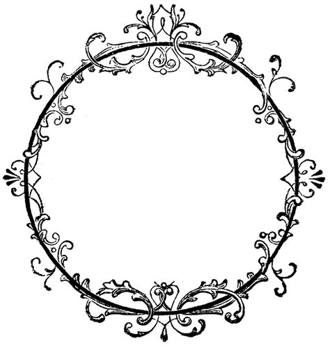 frame design clipart victorian clipart frame design pencil and in color