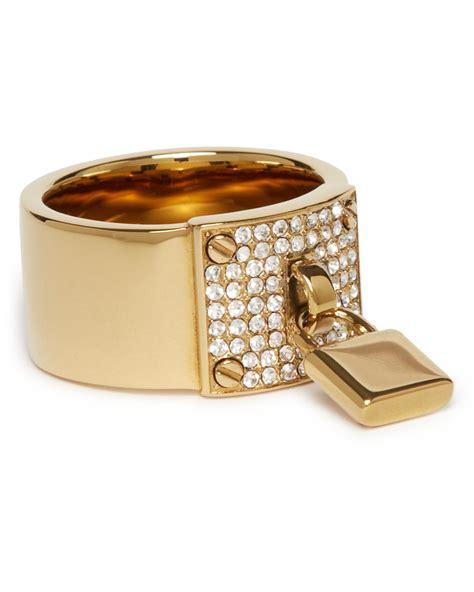 michael kors pave plaque ring with padlock charm bloomingdale s - Check Michael Kors Gift Card Balance