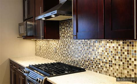 Mosaic Kitchen Tile Backsplash by Brown Beige Glass Metal Mix Backsplash Tile Backsplash