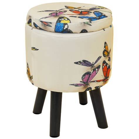 Padded Storage Stool by Butterfly Contemporary Retro Padded Storage Stool