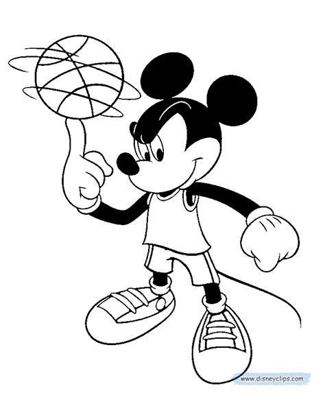 mickey mouse basketball coloring pages mickey mouse coloring pages 3 disney coloring book