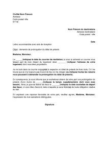 Lettre Type Demande De Prolongation De Visa modele lettre preavis loi alur document