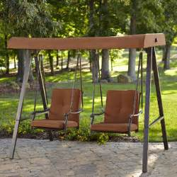 kmart patio swing smith clermont 2 person swing rust limited