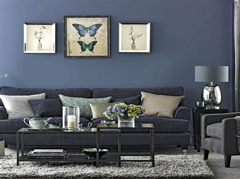 grey and navy blue living room modern house