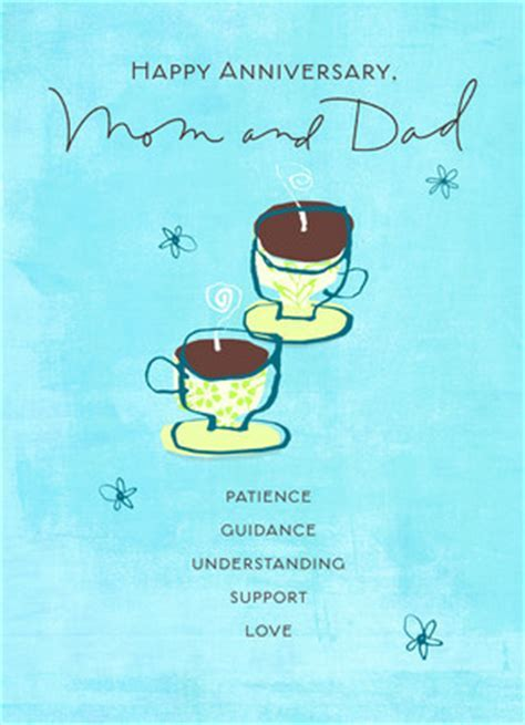 Two Coffee Parents Anniversary Happy Anniversary Card