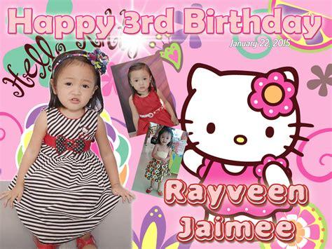 hello kitty themes for tarpaulin rayveen s 3rd birthday hello kitty cebu balloons and