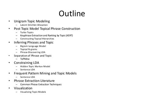 topical outline template survey topical phrases and exploration of text corpora by