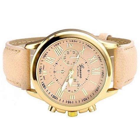 Jam Tangan Geneva Kulit geneva jam tangan wanita analog kulit sintetis