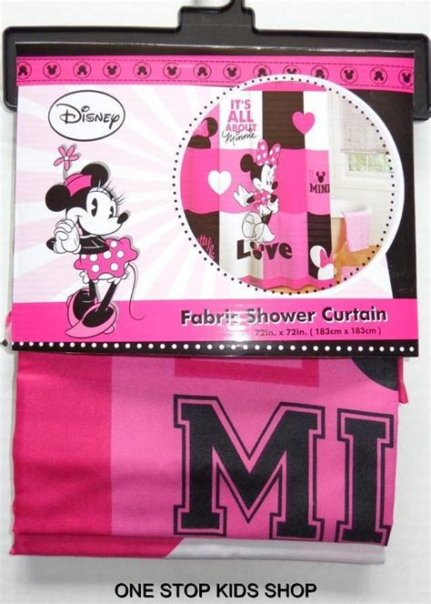 minnie mouse bathroom accessories minnie mouse fabric shower curtain or hooks disney
