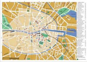 map of center large detailed tourist map of dublin city center dublin