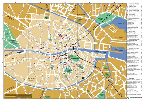 map of the city of large detailed tourist map of dublin city center dublin