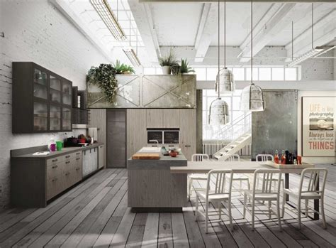 wohnideen industrial industrial loft kitchen with light wood in design digsdigs