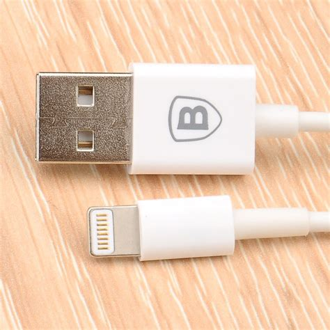 Baseus Lightning Cable 1m baseus fast charging lightning cable 1m for iphone 6 7 8 x white jakartanotebook