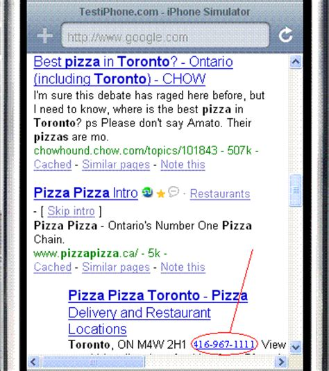 Iphone Lookup Phone Number Iphone Search Result Optimization Tip 1 Phone Numbers In Meta Tags