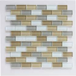 lowes backsplash tiles shop interceramic 12 in x 12 in shimmer blends glass