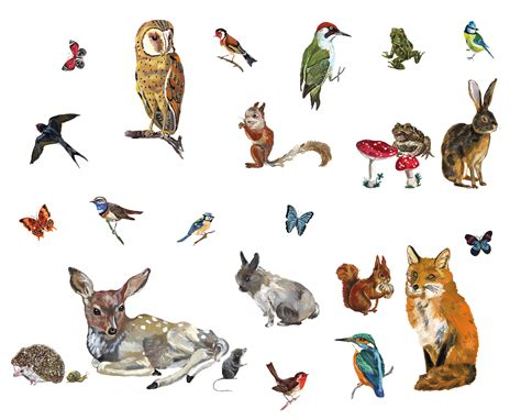 Bathroom Wall Sticker les animaux 2 sticker set of 27 stickers 27 stickers by