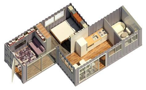Kitchen And Dining Room Open Floor Plan Shipping Container Village One Community Open Source