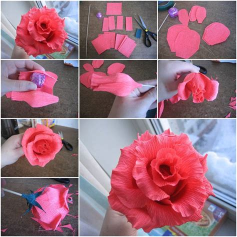 How To Make A Paper Ribbon Flower - how to make of chocolates step by step diy tutorial