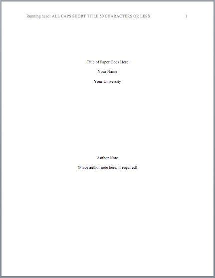 apa format title page template quotes