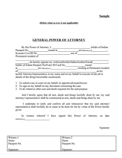 General Power Of Attorney Form Download Edit Fill Print Create Wondershare Pdfelement Free Power Of Attorney Form Template