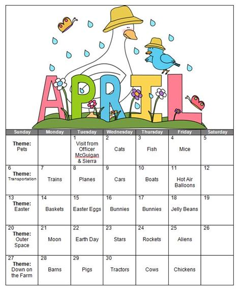 kindergarten themes april 301 moved permanently