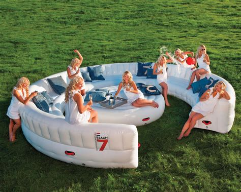 inflatable outdoor couch massive inflatable outdoor party sofa seats 30 guests