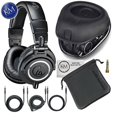 Audio Technica Ath M50x Professional Monitor Headphones Merah audio technica ath m50x professional monitor headphones slappa sized hardbody pro