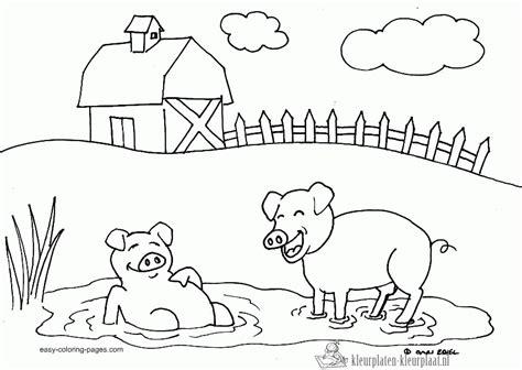 animals in the barnyard coloring page barn house kleurplaten boerderij kleurplaten kleurplaat nl