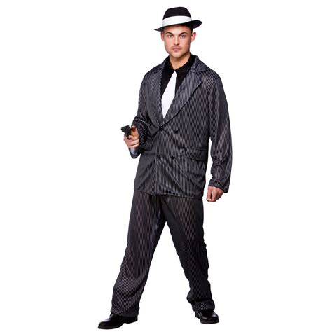 mens 20s costumes costume discounters mens gangster guy costumes for adult 20s 30s mob capone