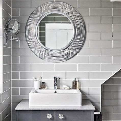Modern Bathroom Mirrors by Modern Grey Bathroom With Mirrors Ideas For Mi
