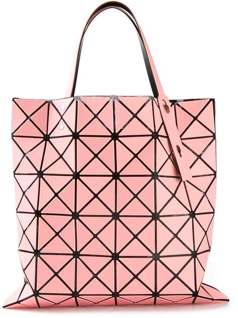 Bao Bao Issey Miyake 282 lyst bao bao issey miyake prism open top tote in pink