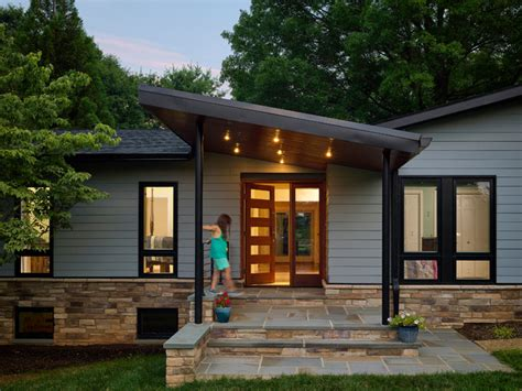 Front Porch Designs For Split Level Homes by Modern Porch Midcentury Exterior Baltimore By Place Architecture Design