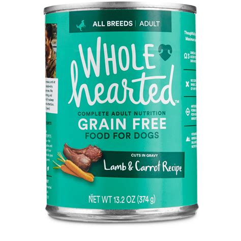 wholehearted food wholehearted food grain free carrot canned cuts in gravy petco
